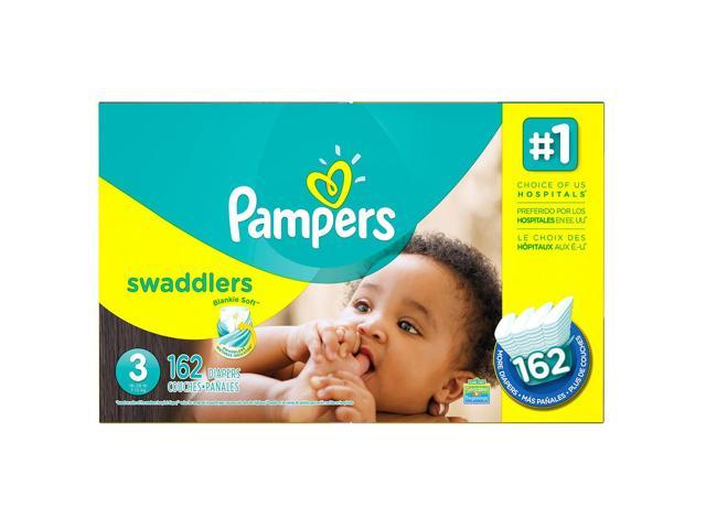f88c0c59b7c Pampers Swaddlers Diapers Economy Pack - Diaper Size 3 - 162 Ct. ( Weight 16