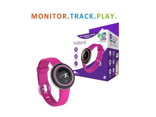 PaiBand - Kids' Activity Tracker with Motion Sensor Gameplay (Pink) -  Newegg com
