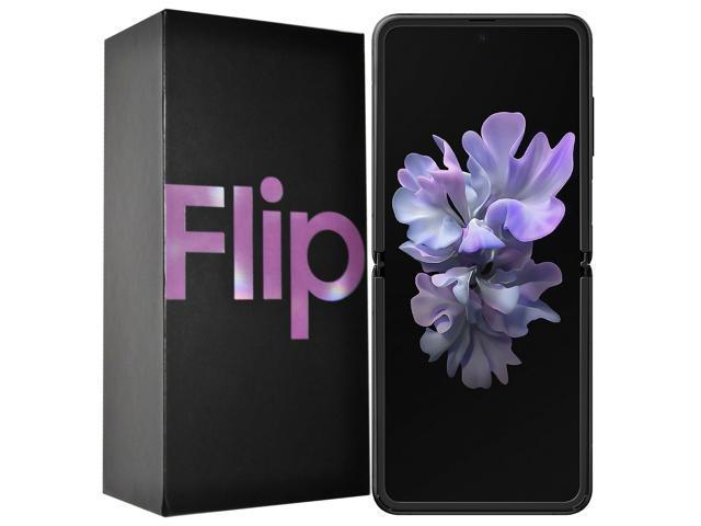 Samsung Galaxy Z Flip SM-F700F/DS 256GB (GSM Only | No CDMA) Factory Unlocked Android 4G/LTE Smartphone - Mirror Purple