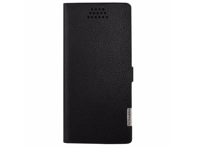 watch a768b 47567 KICKmobiles® London Luxury Universal Leather Wallet Case for 5.5 inch  Smartphones - Black - Newegg.com