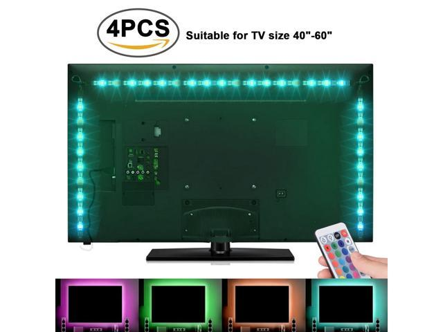 tv backlight light kit 6 56ft 2m 5v usb led lights strips 5050 rgb