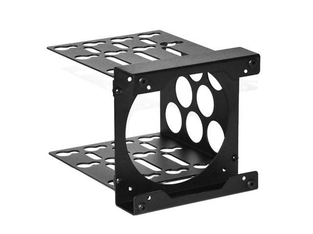 CaseLabs Standard HDD Cage for Double Wide MAGNUM Case, 120mm x 25mm Fan Mount, Black