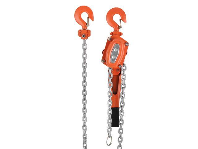 VEVOR Chain Block 1 5T 3000LBS Ratchet Lever Block Chain Hoist Manual Lever  Chain Hoist Come Along Chain Puller 5 FT Lift - Newegg com