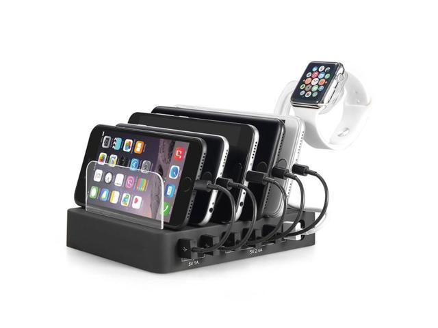 3900717485c9 6-Port USB 60W 12A Charging Station Dock Multiple Desktop USB Charger Hub  Fast USB Charging Dock For Apple iWatch iPhone Samsung Smartphone Tablet PC  ...