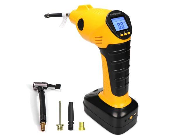 Wwin Air Compressor Tyre Inflator Pump Pressure Gauge Cordless Portable Electric with Rechargeable Digital LED Light