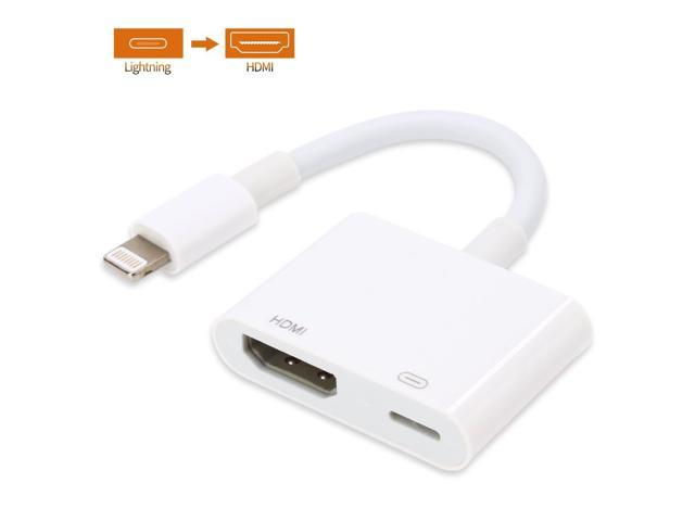Lighting to HDMI Adapter Cable Lightning Digital AV Adapter for iPhone X/8/  sc 1 st  Newegg.com & Lighting to HDMI Adapter Cable Lightning Digital AV Adapter for ...