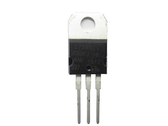 5 pcs L7805CV REG 5V TO220 ST