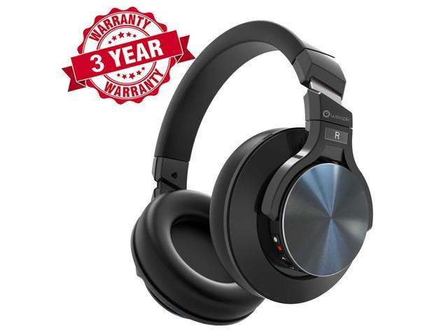Active Noise Cancelling Headphones, Woozik Bluetooth Headphones,Wireless  Headset Over Ear with 18 Hour Playtime, Quiet Listening with Great Comfort