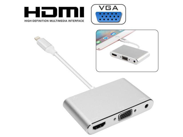 cheaper 7425c 8d258 8 pin Lightning to HDMI VGA AV Adapter Converter, 3 IN 1 Plug and Play  HDMI/VGA/Audio/AV Multiport Digital Connector with Power Supply Port for  iPhone ...