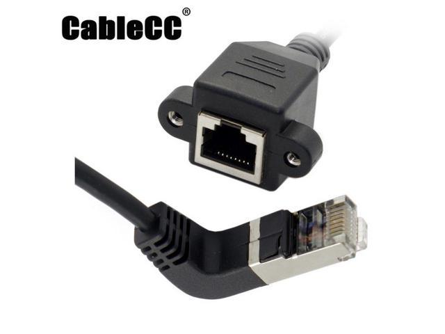 Ethernet LAN Network RJ45 Male 90°UP Angled to Male Plug Extension Adapter Cable
