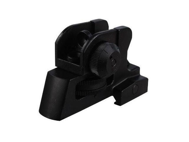 match grade detachable rear sight with full range windage and