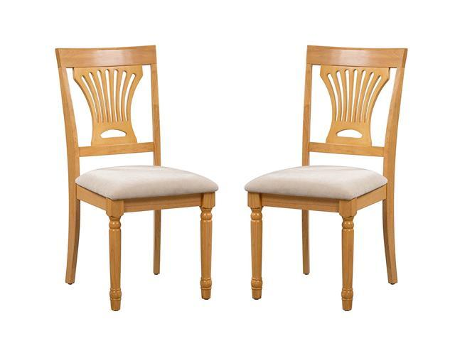 Wonderful Trithi Furniture Portland Solid Wood Dining Chair With Upholstered Seat    Set Of 2