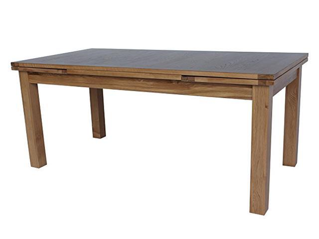 Trithi Furniture Portland 2800 Real Solid Oak Extendable Dining Table With Self Storing Leafs