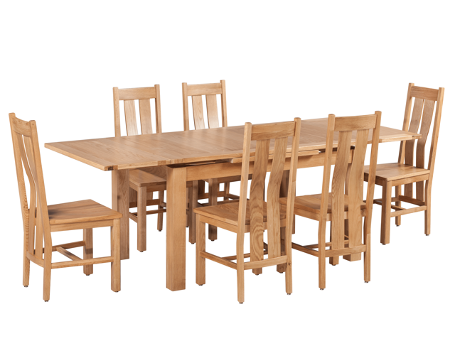 Trithi Furniture Rancho Dining Set Table With Self Storing