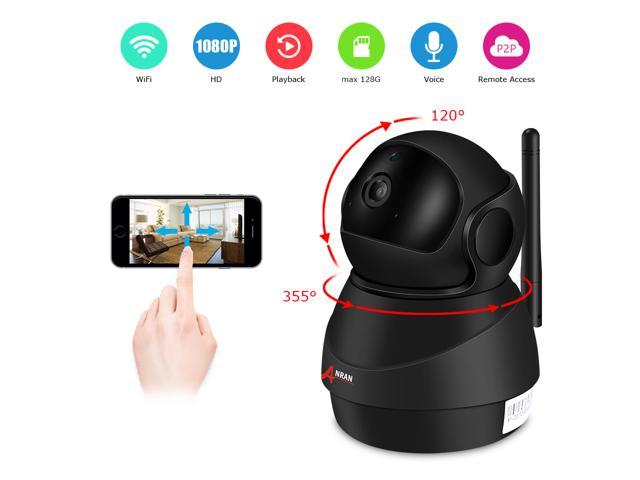 ANRAN 1080P Wifi IP Camera Home Video Surveillance Camera CCTV Night Vision  Security Camera Pan 355° Tilt 120° Two-Way Audio Baby Monitor 1920*1080