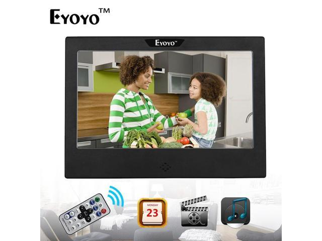 Eyoyo 7 Digital Photo Picture Frame Music Player Remote Black Led