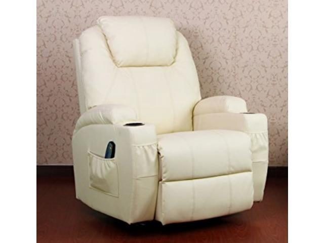 Union Source PU Leather Massage Recliner Chair With Heated Option Control  Ergonomic Executive Lounge