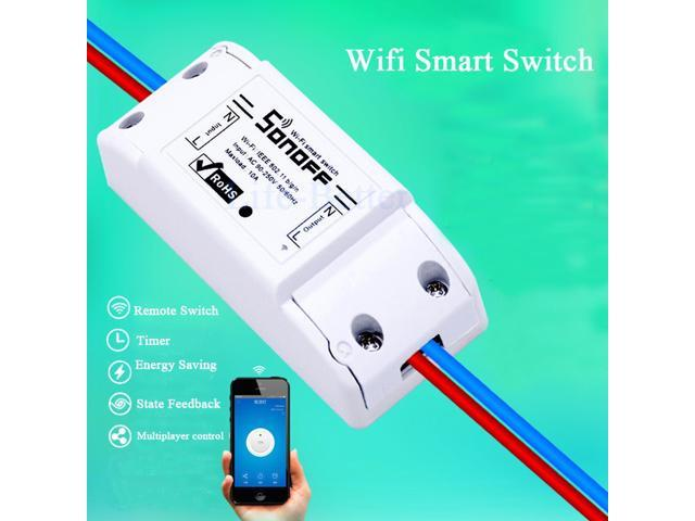 New Sonoff Smart Home Remote Control Wireless Switch Universal Module Timer  Wifi Switch Smart Home Controller Via IOS Android - Newegg com