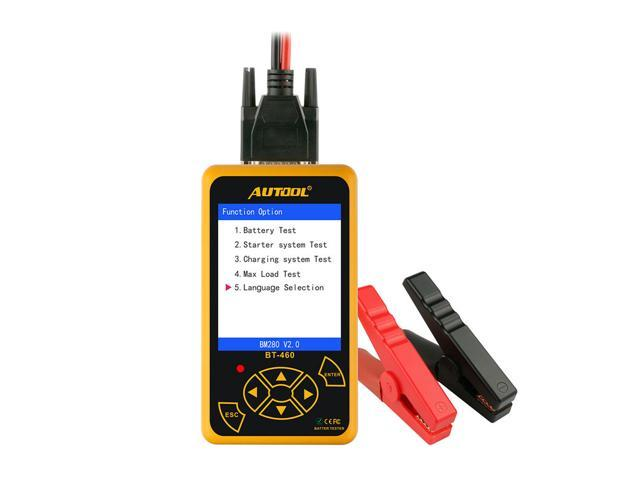 AUTOOL BT460 Car Battery Tester 12V 24V Heavy Duty Colorful Display  Multi-Languages Cell Test Car Tools High Quality Analyzer - Newegg com