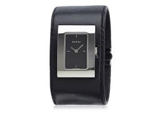 a9a8aaeba48 Gucci 7800L Black Dial Stainless Steel Leather Band Watch - Newegg ...