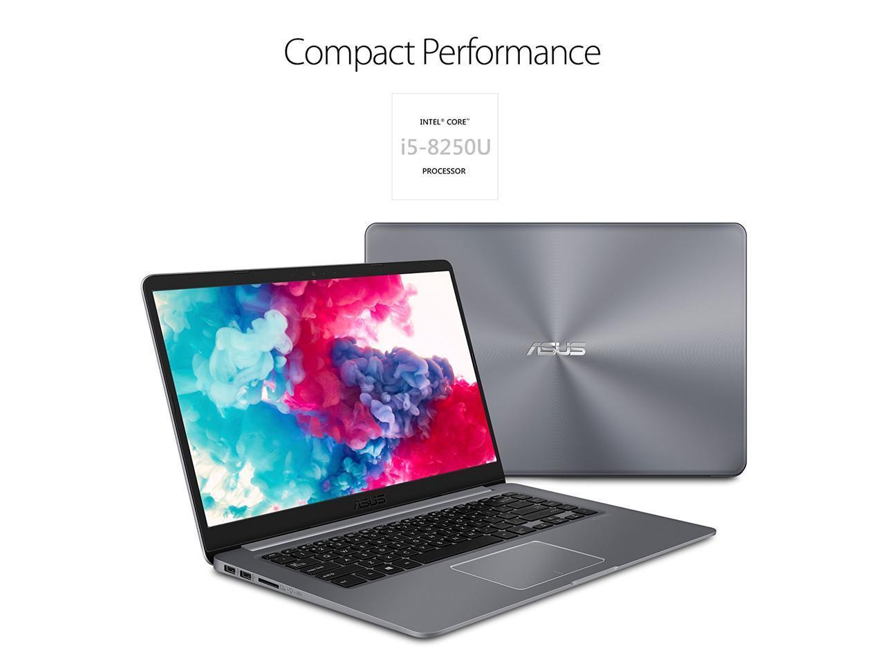 2018 ASUS VivoBook F510UA Full HD Ultra-Narrow Laptop | Intel Core i5-8250U |  8GB RAM  | 1TB HDD | USB-C |  NanoEdge anti-glare Display |  Fingerprint | HDMI |  Windows 10 | Star Gray