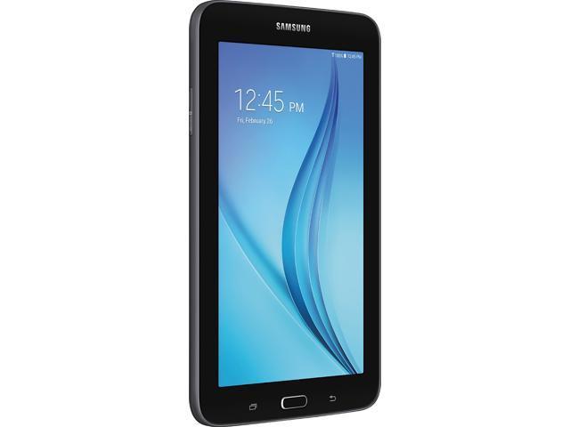 Samsung Newest Galaxy Tab E Lite Flagship Premium 7 inch Tablet PC   Spreadtrum T-Shark Quad-Core   1GB RAM   8GB Ram   Bluetooth   WIFI   GPS Enabled   MicroSD Slot   Wi-Fi   Android 4.4 KitKat Black