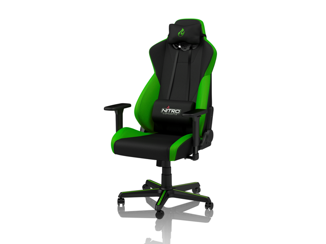Admirable Nitro Concepts S300 Atomic Green Ergonomic Office Gaming Chair Ibusinesslaw Wood Chair Design Ideas Ibusinesslaworg