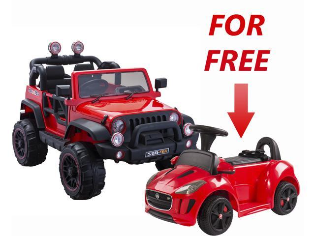 Electric 2 Seater For Kids Off Road 12v Battery Operated Truck Red With Remote Control Mp3