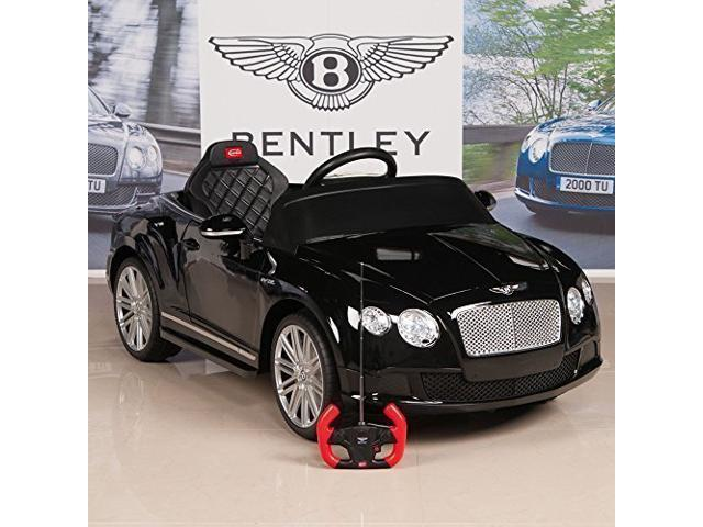 Electric Ride On Car Bentley GTC 12V Power Motor Wheels Battery For Kids  Remote Control MP3 LED Black - Newegg com