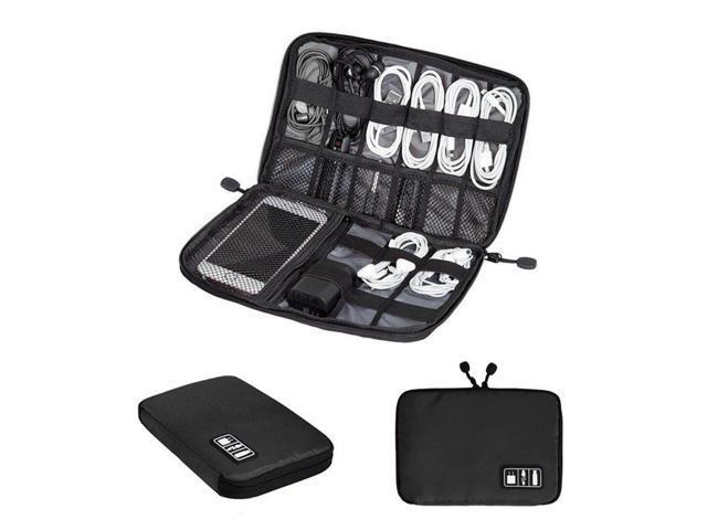 Black Storage Usb Cable Organizer Bag Case Digital Earphone Travel Insert