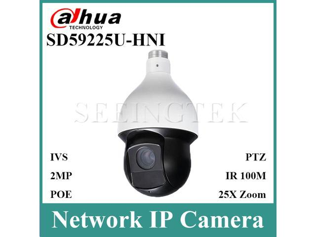 Dahua SD59225U-HNI 2MP 25x Starlight IR PTZ Network Camera Support  Auto-tracking and IVS 4 8-120mm Auto Zoom IR 150M English Firmware  Upgradable -