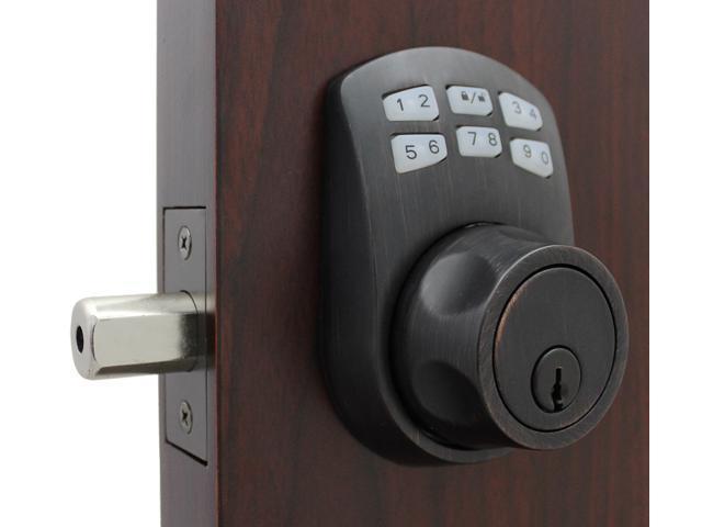 Lockeyusa Slim Line 910 Keyless Entry Combination Digital Door Lock