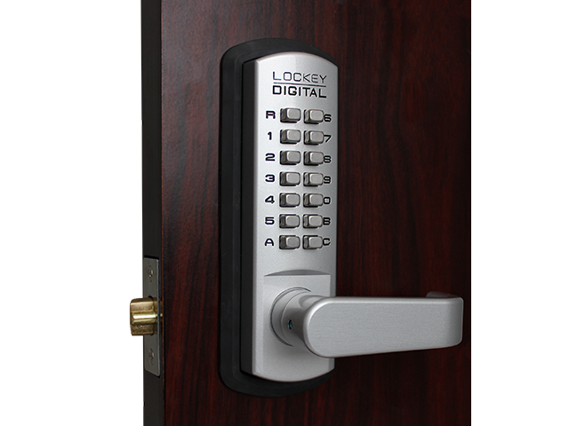 LockeyUSA Mechanical Push Button Digital Door Lock, Lever Lock, Access  Control, Residential, Gate, Combination, Spring Latch Lock with Keypad  Access
