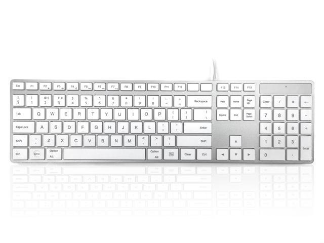 accuratus 301 mac usb wired full size apple mac layout keyboard with white square keys and. Black Bedroom Furniture Sets. Home Design Ideas