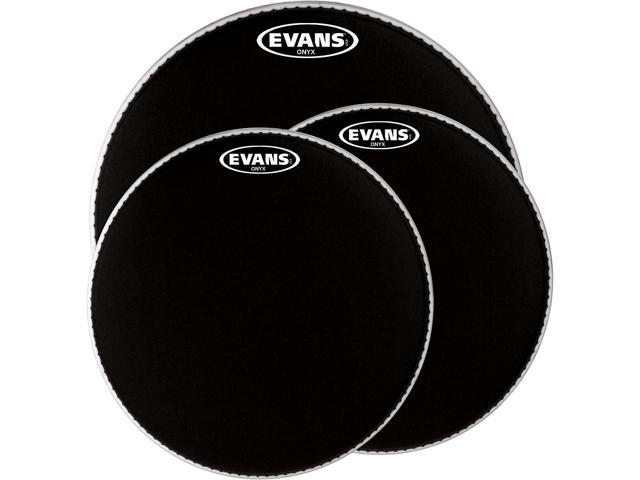 evans onyx resonant bass drum head black 20. Black Bedroom Furniture Sets. Home Design Ideas