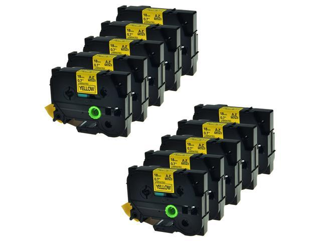 """4PK TZ 641 TZe 641 Black on Yellow Label Tape For Brother P-Touch PT-2700 3//4/"""""""