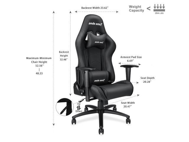 Pleasing Anda Seat Axe Series High Back Gaming Chair Ergonomic Computer Chair Esports Desk With Pillows Black Ad5 01 B Pv Machost Co Dining Chair Design Ideas Machostcouk