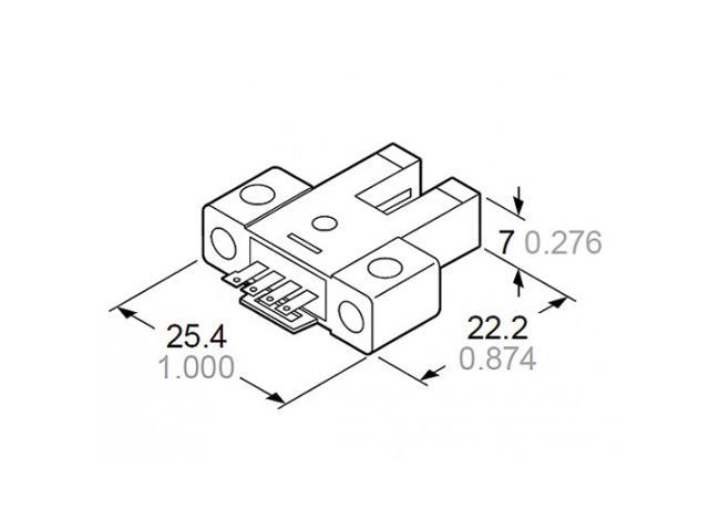 Sunx Pm K54p Micro Size Photoelectric U Shaped Slot Sensor