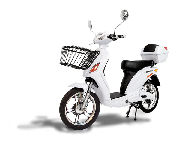 1efa09045856 Electric Scooter Bike SUPERFLY Fast & Affordable White 600 Watts 48V Lead  Acid Battery 2018 from