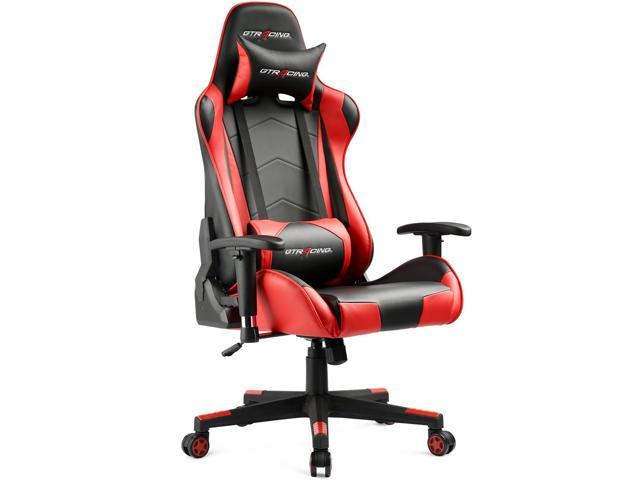 gtracing ergonomic office chair racing seat with adjustable backrest