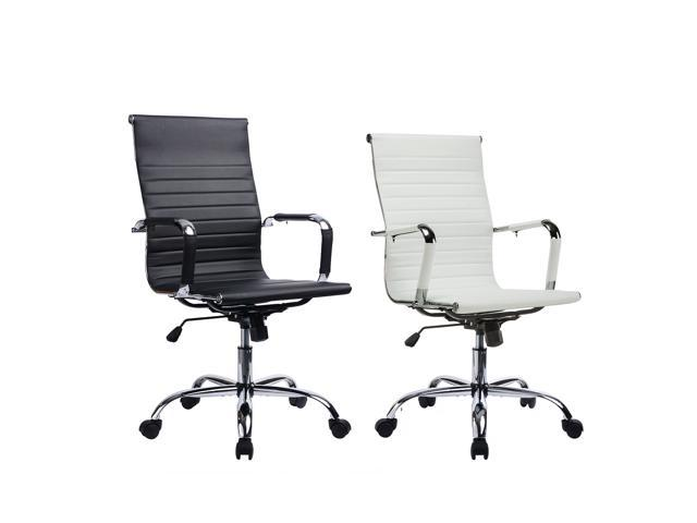 Gtracing Modern Ribbed Leather Office Chair Ergonomic With High