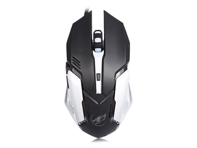 Warwolf T1 3200DPI 6D Optical Wired Macro Definition Programming Gaming Mouse Colorful Light