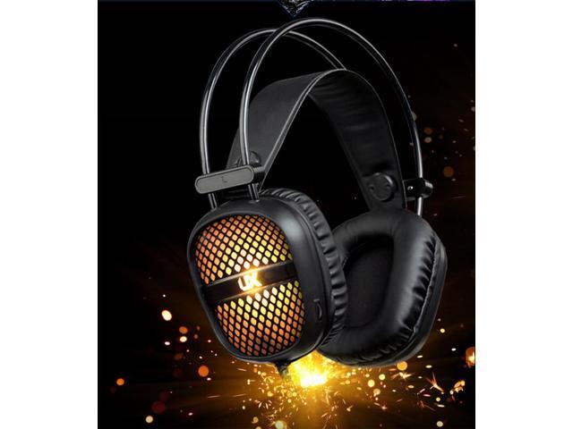 Seven Led Lights Gaming Headphone Headset Earphone Headband Hidden