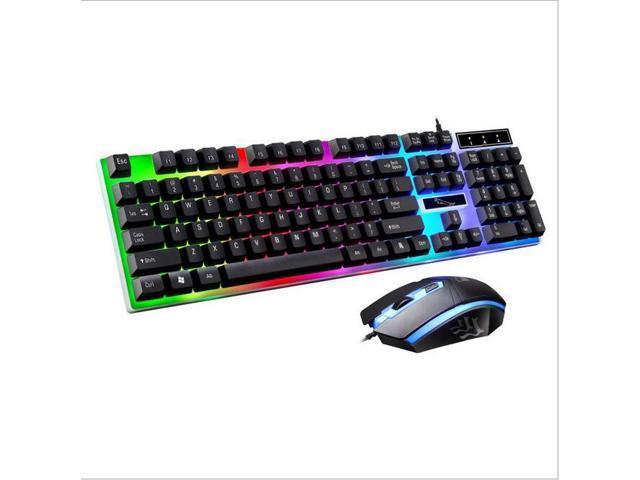 2132f4496f5 G21 USB Wired Gaming Keyboard Mouse Set LED Backlight 104 Keys Optical for  LOL Dota 2