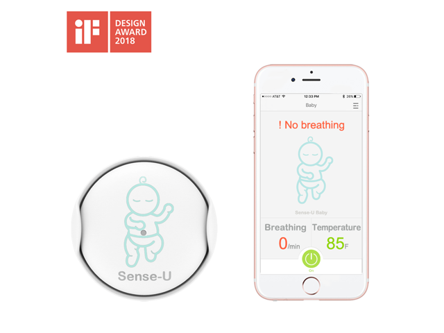 Sense-U Baby Breathing & Rollover Baby Movement Monitor: Alert you for No  Breathing Movement, Stomach Sleeping, Overheating and Getting Cold (2019