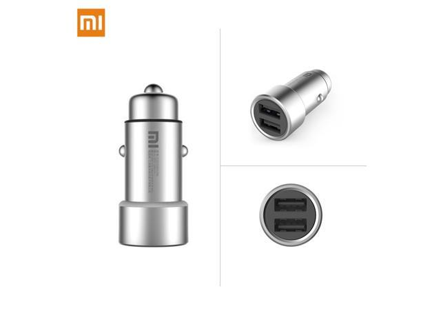 Xiaomi Car Charger Metal Casing Dual Usb Ports Fast Charging Universal For Samsung