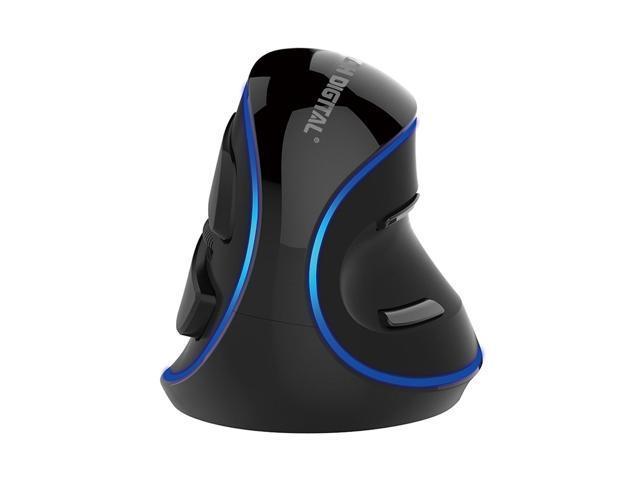 J-Tech Digital V628 (Gen2)Scroll Endurance Mouse Ergonomic Vertical USB  Mouse with Adjustable Sensitivity (600/1000/1600 DPI), Removable Palm Rest  &