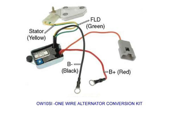 ow10si is a one wire conversion kit to convert a delco 10,12,15,17ow10si is a one wire conversion kit to convert a delco 10,12,15