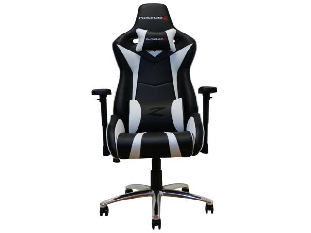 Pulselabz Enforcer Series Gaming Chair White Black