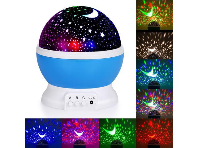 5278b85b81e9 Rotating Projector Starry Night Lamp 4 LED Light Star Sky Moon Master USB  Lamp Led Projection Romantic Spin Night Light For Kids Baby Sleep Lighting  with 8 ...
